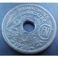 Индокитай. 1\2 цента 1935