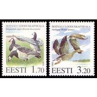 ЭСТОНИЯ 1995 083-84 Фауна Птицы ** серия 2 марки