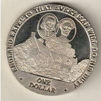 Острова Кука 1 доллар 2007 Дом Нельсона