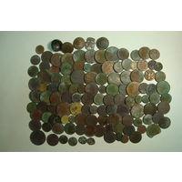 Сборный лот монеты, пуговицы, знаки  (120шт)                              (6124)