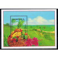 Сельское хозяйство Доминика 1988 год 1 чистый блок (М)