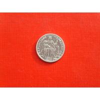 1 франк 2001г. Французская  Полинезия.