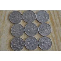 Кения 50 центов(1966,68,69,73,74,78)