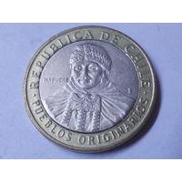 Чили 100 песо 2009 г. Аукцион с 1.00 руб.