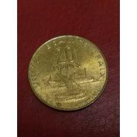 Джибути 20 франков 1991 UNC