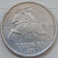 14. Литва 5 лит 1936 год, серебро