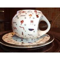 Чайный фарфоровый комплект