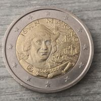 2 евро 2006 Сан-Марино 500 лет со дня смерти Христофора Колумба.. редкая!!!