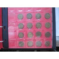 ПОЛНАЯ КОЛЛЕКЦИЯ Германия ФРГ 5 пфеннигов 1948-1994 все монетные дворы - 129 монет, погодовка без повторов!