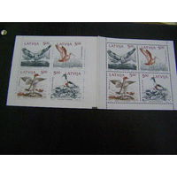 Фауна Птицы Латвия 1992 год буклет **