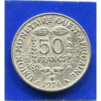 Западная Африка 50 франков 1974