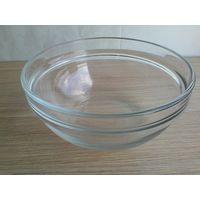 Салатник с Толстого прозрачного стекла - Диаметр 17 см - Высота 8 см.