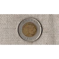 Эфиопия 1 быр/ бир /фауна/лев/биметалл/(AR)