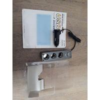 Разветвитель в авто на 3 гнезда + USB выход 12V 24V 120W