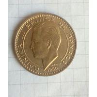 Монако 20 франков 1950г Штемпельный блеск