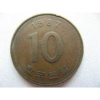 Южная Корея 10 вон 1987 г.
