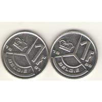 1 франк 1989, 1991 г. E.