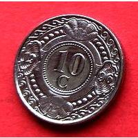 06-25 Антильские острова, 10 центов 1996 г.  Единственное предложение монеты данного года на АУ