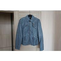 Куртка кожанка голубая Taifun р-р 46