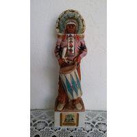 "Бутылка сувенирная 36 см.  Ski-Country ""Indian Dancers of the Southwest"" 1975 год."