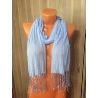 Красивая легкая шаль нежно-голубого цвета, 160 см на 45 см,очень симпатичный и нежный. Идеальное состояние.  Посмотреть можно в трех минутах ходьбы от ст.метро Фрунзенская. Почтой отправляю по предопл