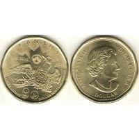 Канада 1 доллар 2016 Олимпиада в Рио де Жанейро UNC