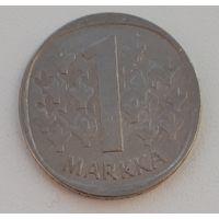 Финляндия km49a 1 марка 1980 год (K) (верх гурта - лев)