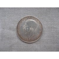 Швеция: 5 крон  серебро 1935 год от 1 рубля без МЦ