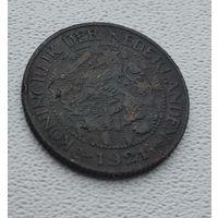 Нидерланды 1 цент, 1921 8-9-28