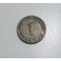 ГЕРМАНИЯ 1 пфенниг 1949 банк немецких земель, нечастая