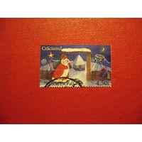 Марка Рождество 2007 год Молдова