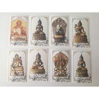 Монголия 1988.  Религиозные скульптуры. Полная серия