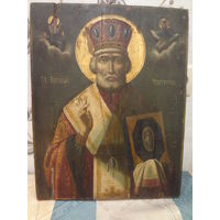 "Продам икону ""Св. Николай Чудотворец"" 19 век. Супер."