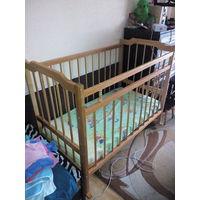 Кроватка бу деревянная