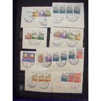 Беларусь подборка с 44 разными штемпелями Гродно и области 77 марок