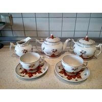 Сервиз чайный Вербилки ручная роспись Люкс