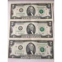 2 доллара США 2009 года, 3 банкноты