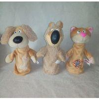 Куклы пальчиковые для кукольного театра Кот Медведь Собака