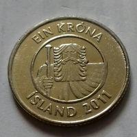 1 крона, Исландия 2011 г.