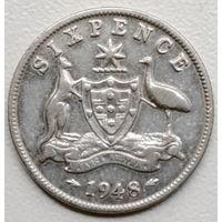 Австралия 6 пенс 1948