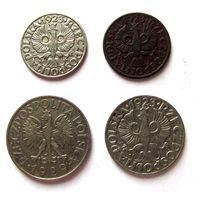 5, 20, 50 грошей 1923 г. 1 злотый 1929 г.