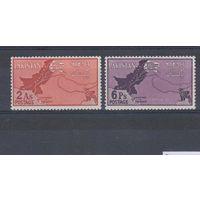 [568] Пакистан 1960.Политика.Карта.