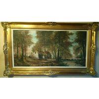 Картина,холст, середина  XX века, 140*80см ,Бельгия