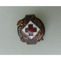 Знак БТЧК (Беларускае Таварыства Чырвонага Крыжу) редкий