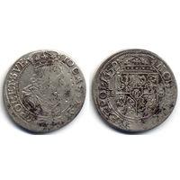 Орт 1659 TLB, Ян II Казимир Ваза. Вариант легенды на аверсе IO CASIM D G REX POL ET SVE. Коллекционное состояние