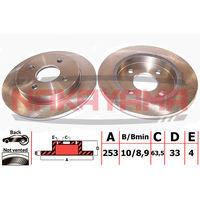 Тормозной диск задний (не вент.) NAKAYAMA / Q4961