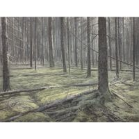 "Картина ""В лесу. Этюд"" холст/масло 24Х18 см. 2019 г."