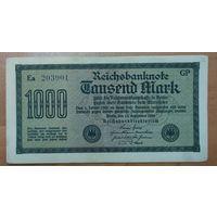 1000 марок 1922 года - Германия (Ro.75k)