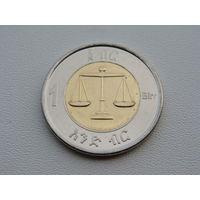 Эфиопия. 1 бырр 2010 год  KM#78