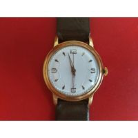 Часы швейцарские, позолота, с рубля